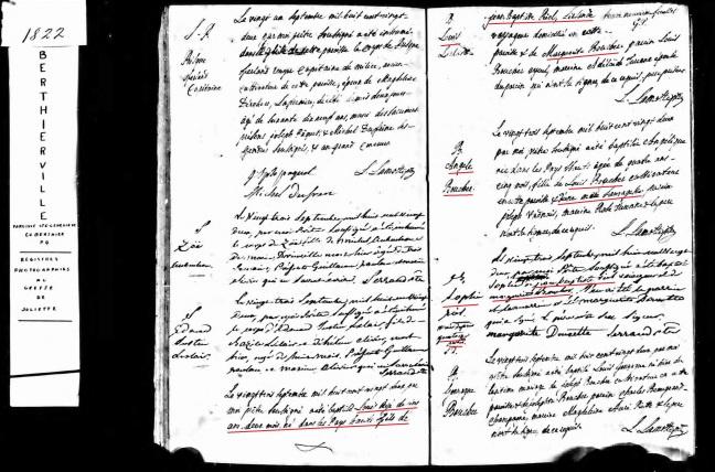 1822 RIEL Louis Sophie bapteme
