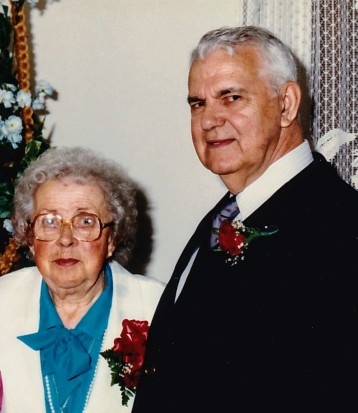 Aunt Jeane and Uncle Rolland at their 50th wedding anniversary celebration in 1986